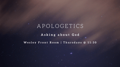 Apologetics discussion group!